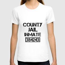 county jail inmate 384243 veteran t-shirts T-shirt