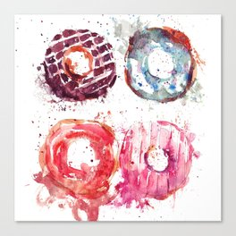 Donuts love Canvas Print