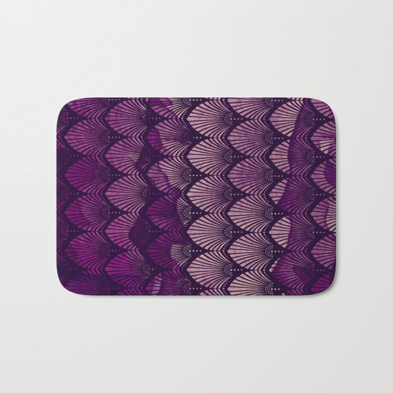 Variations on a Feather II - Purple Haze  Bath Mat