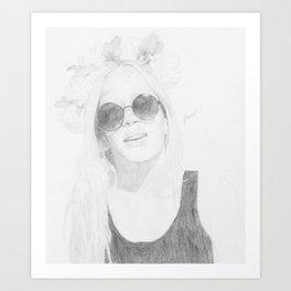 Flower Headband Art Print