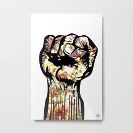Resist with Art  by Eric Stamps  Metal Print