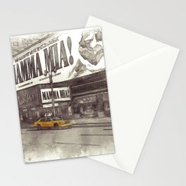 NYC Yellow Cabs Musical - SKETCH Stationery Cards