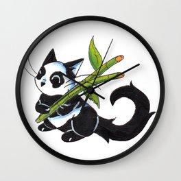 Panda Cat Wall Clock