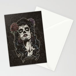 Day of The Dead Woman Stationery Cards