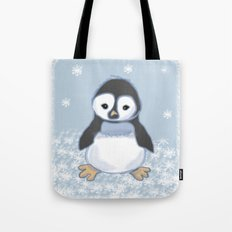 Frosty pinguin Tote Bag