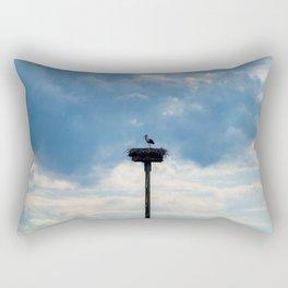 A Stork among the Clouds Rectangular Pillow