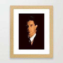 Twin Peaks - Dale Cooper Framed Art Print