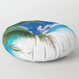 Classic Tropical Island Beach Paradise Floor Pillow