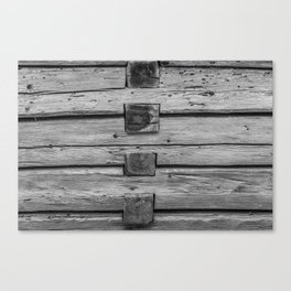wood wall texture as background Canvas Print