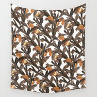 spice Wall Tapestries featuring Spice by Marlene Pixley