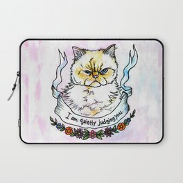 Judging You - a cat's life Laptop Sleeve