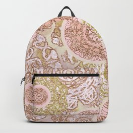Rosey Gold Mandalas Backpack