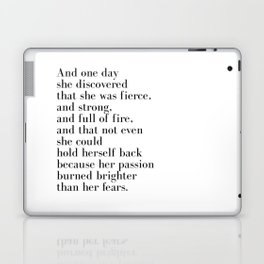 And one day she discovered that she was fierce Laptop & iPad Skin