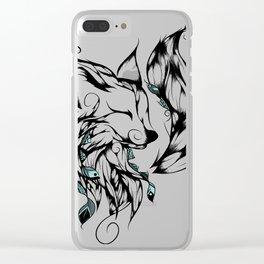 Fox B&W Clear iPhone Case