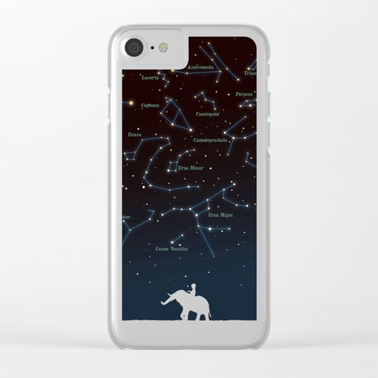 Falling star constellation Clear iPhone Case