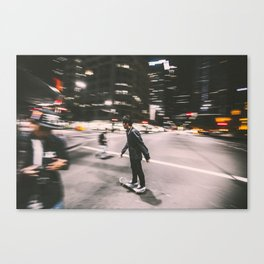 Skate in street 4 Canvas Print
