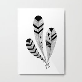Bound Feathers Metal Print