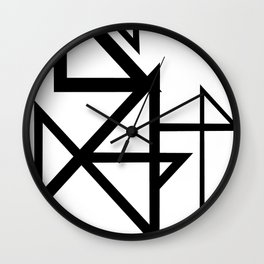 Black & White Minimal Design Nr. 2 Wall Clock