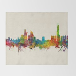 Ho Chi Minh City Saigon Vietnam Skyline Throw Blanket
