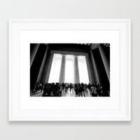 lincoln Framed Art Prints featuring Lincoln by David McLeod