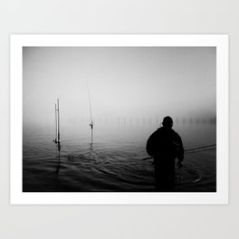 a bad day fishing is better then a good day at work. Art Print