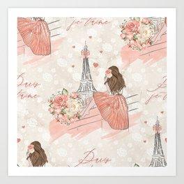 Oh La La Paris Girl Art Print