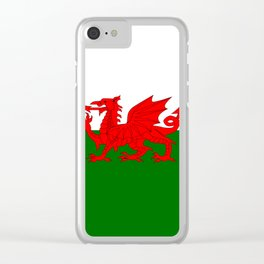 Welsh Dragon Flag Clear iPhone Case