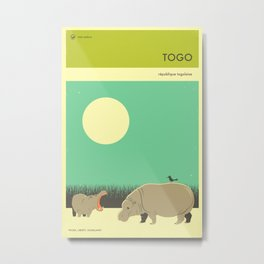 TOGO TRAVEL POSTER Metal Print
