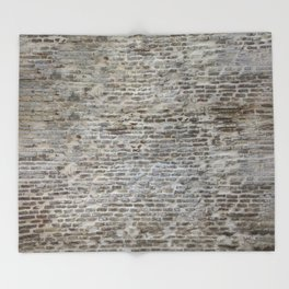 brick wall pattern and texture Throw Blanket