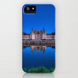 The castle of Chambord at night iPhone Case