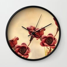 Ruby Red Wall Clock