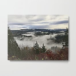 Valley Fog in Sandy Oregon Metal Print