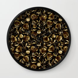bronze flowers Wall Clock