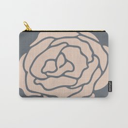 Rose Vintage Rose Pink on Pebble Gray Carry-All Pouch