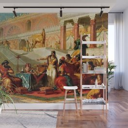 "Classical Masterpiece ""Esther Accusing Haman"" by Frederick Bensell Wall Mural"
