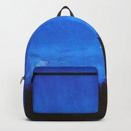 Midnight Blue, Midsummer Night coastal landscape painting by Harald Sohlberg Backpack