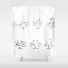 Evolution of Bicycles Shower Curtain