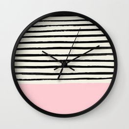 Millennial Pink x Stripes Wall Clock