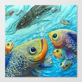 Thanks Fish Canvas Print