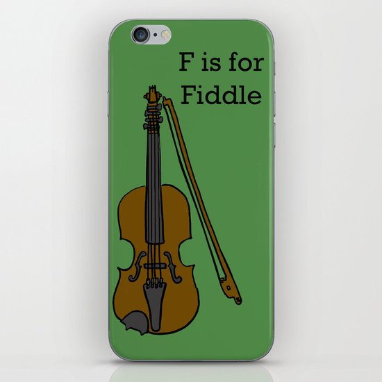 Fiddle, Typed iPhone Skin