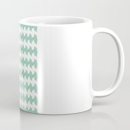jaggered and staggered in grayed jade Coffee Mug
