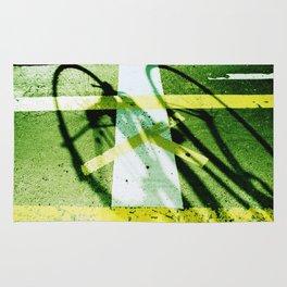 road paintings (cross cycling) Rug