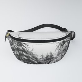 Fir Forest Winter Snow III - Nature Photography Fanny Pack