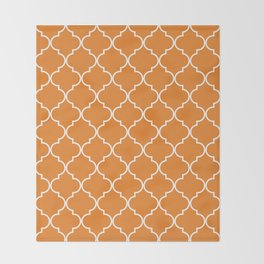 Quatrefoil - Apricot Throw Blanket