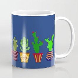 Cactus in blue Coffee Mug