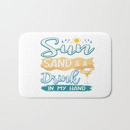 Funny Summer Sun Beach Holiday Vacation Drink Gift Bath Mat