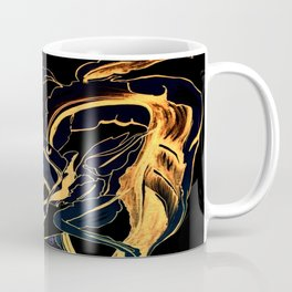 Plant in Blue Marker - Leaf of Life Miracle Leaf - Black and Gold Coffee Mug