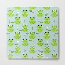 Frog cute kids room decor boys room baby nursery Metal Print