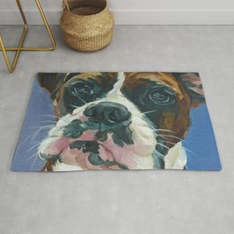 Khloe the Boxer Dog Fine Art Portrait Rug