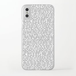 imagine - Ariana - lyrics - white black Clear iPhone Case